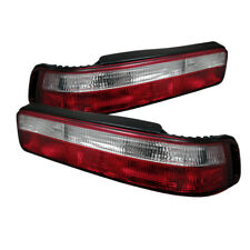 Acura 90-93 Integra 2dr Coupe Euro Style Red Clear Rear Tail Lights Brake Lamp