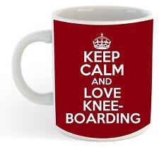Keep Calm And Love Kneeboarding  Mug - Maroon