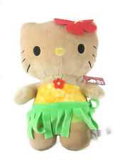 "Sanrio Super Cute Hawaiian Hula Hula Hello Kitty 12"" Plush Stuffed Toy"