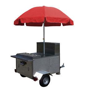 Mobile Hot Dog Cart Trailer Food Concession Vending Kiosk Stand