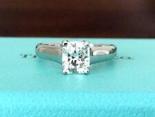 TIFFANY & Co LUCIDA PLATINUM DIAMOND ENGAGEMENT RING .83 CT G VS1 $11k RETAIL