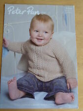 Knitting Pattern: Panelled Sweater - cable, lace, or leaf, for 0-2 years, d.k.