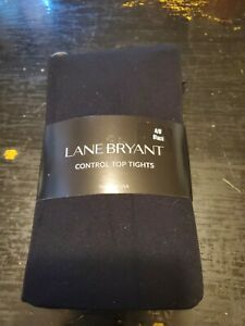 Lane Bryant Control Top Tights Size A/B Solid Black