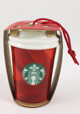 Starbucks 2014 Christmas Ornament Red Cup Ceramic New Old Stock