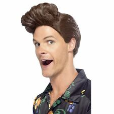 90s Nineties Detective Wig Brown with Ace Big Quiff Comedy Novelty Fancy Dress