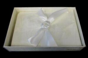 Cherished Boutique Wedding Guest Book White Satin Bow Original Packaging