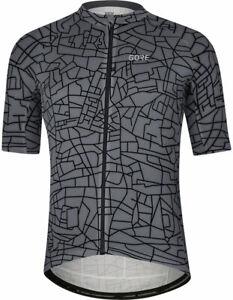 GORE® Wear Gotham Cycling Jersey - Graystone/Black Men's Large