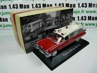 AMB2U 1/43 IXO atlas AMBULANCE COLLECTION CADILLAC Miller Meteor 59 ghostbuster