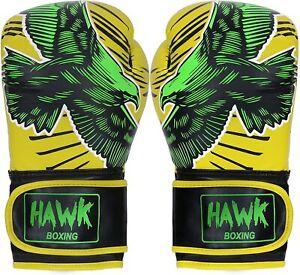 Hawk Boxing Gloves for Men Women Pro Kickboxing Gloves Sparring Heavy Bag 12 oz