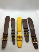 Lot Of 5 NOS Vintage Hirsch 20mm 18mm 16mm  Leather  Watch Band #216