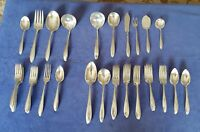 60 pc. lot Community Plate Patrician flatware. Monogram appears to be A.