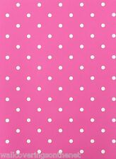 PINK & WHITE Polkadot featurewall Carta da parati