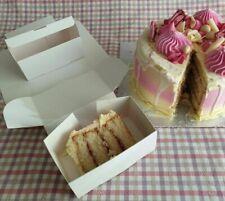 30 x White Cake Slice Boxes THE BIG ONE 12 x 7 x 5cm                        #175