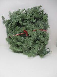 """24"""" Balsam Hill Balsam Fir Wreath w/ Lights"""