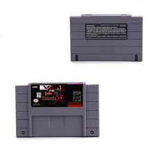 Castlevania Dracula X Game Cartridge Card Grey For SNES Super Nintendo USA Game