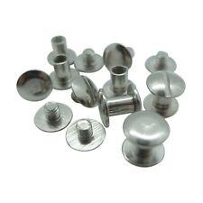 Book Binding Screws - Silver - Various Lengths - 10mm head, 5mm hole