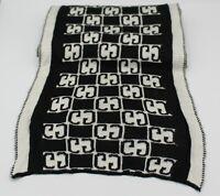 Gucci vintage logo wool scarf