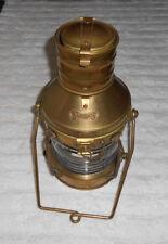 """Ship Lantern """"Anchor"""" Brass & Clear Glass Oil lamp"""