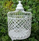 White metal decorative bird cage / candle holder Home Garden ornament RRP $49.95
