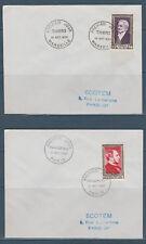 enveloppe 1er jour série des 6 célébrités du 19è siècle  Thiers 1952