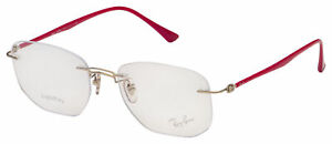 Ray-Ban Eyeglasses RX 8757 1195 51 Purple-Reddish; Silver Frame [51-18-140]