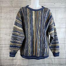 Mulca Classic Australia Mens Sweater Sz XL Blue Brown Wool