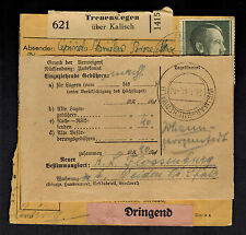 1941 Germany Buchenwald Concentration Camp Parcel Cover Forwarded to Flossenburg