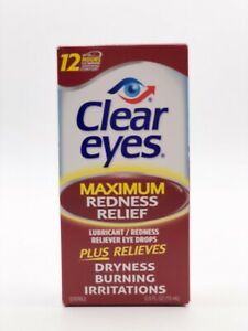 Clear Eyes Maximum Redness Relief Eye Drops Lubricant Redness Reliever .5 fl oz