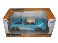Jada 1957 Chevrolet Corvette Azul Cielo / Crema 1/24 Modelo Fundido 98162