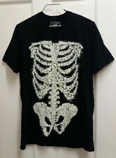 F&F Men's BLACK Spider / Shines in the dark T-Shirt  Size UK M PARTY, FUNNY,