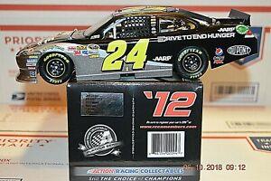 NASCAR #24 Jeff Gordon 2012 AARP/DTEH Chevrolet Impala Rampage finish