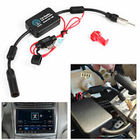 Antenna FM AM Radio Amp 12V Car Signal Aerial Auto Amplifier Booster Truck