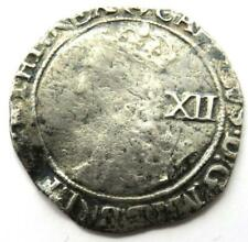 More details for 1625-1649 charles i hammered silver shilling coin