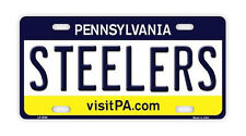 Metal Vanity License Plate Tag Cover - Pittsburgh Steelers - Football Team