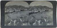 Cannes Panorama Boulevard la Croisette Fotografia Stereo Vintage