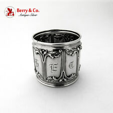 Art Nouveau Napkin Ring Sterling Silver Gorham Silversmiths 1900