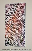 """Sunrise Behind Web""   ORIGINAL FINE ART American Artist GREGORY HUGH LENG New!"