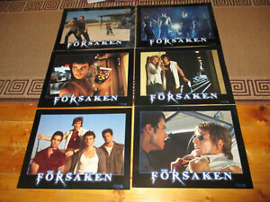 """MOVIE CARDBOARD """"FORSAKEN"""" X6 2001 PROMO POSTERS BY COLUMBIA TRISTAR (LIKE NEW)"""