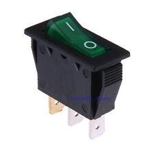 Interrupteur à bascule On/Off Lumineux 12V Bipolaire 34x16mm Vert