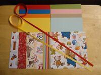 """Stampin Up! BIRTHDAY MEMORIES 6 X 6"""" Designer Paper Card Kit ribbon"""