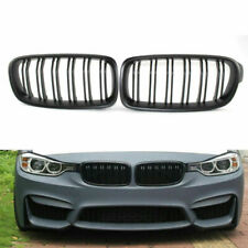 Front Flat Black Double line Racing Grille for BMW 3 Series M3 F30 F35 12-15 B00