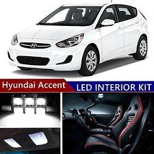 9pcs LED Xenon White Light Interior Package Kit for Hyundai Accent 2015-2016