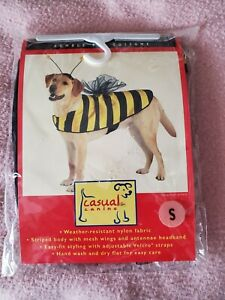 Size S, Casual Canine Bumble Bee Costume - Nylon Mesh, Straps Wings & Headband