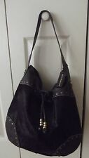Aqua Madonna calf fur brown bag/dust bag EUC