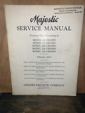 1932 Majestic Radio -Service Manual- Model 10,55,200,210,220. Grisby-Grunow Co.