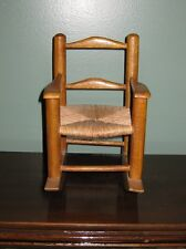 Miniature Wooden Cane Seat Ladderback Rocking Chair Made In Haiti Wood