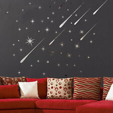 3D Star Meteor Acrylic Mirror Wall Home Decal Art Room Ceiling Vinyl Stickers