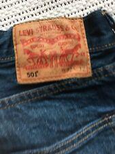 Men's Levis 501 Faded Blue Denim Jeans  Size W 32 L 32