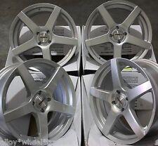 """Llantas de Aleación X 4 16"""" Plata Ritmo para 4x100 Rover Seat Suzuki Volkswagen"""