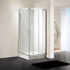 """Shower Enclosure Double Corner Sliding Door Toughen Glass 35×77"""" Bathroom in CA"""